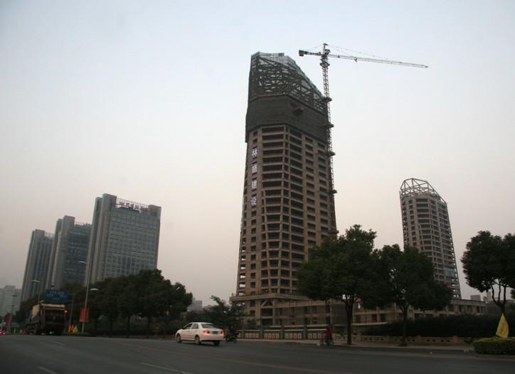 High rises under construction in Keqiao.