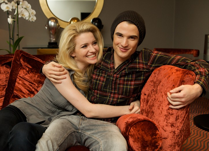 Talulah Riley with Tom Sturridge.