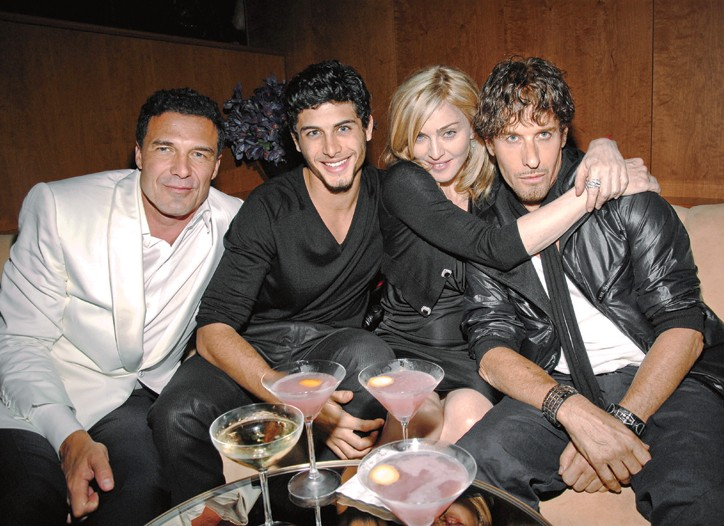 André Balazs, Jesus Luz, Madonna and Steven Klein at the Boom Boom Room.