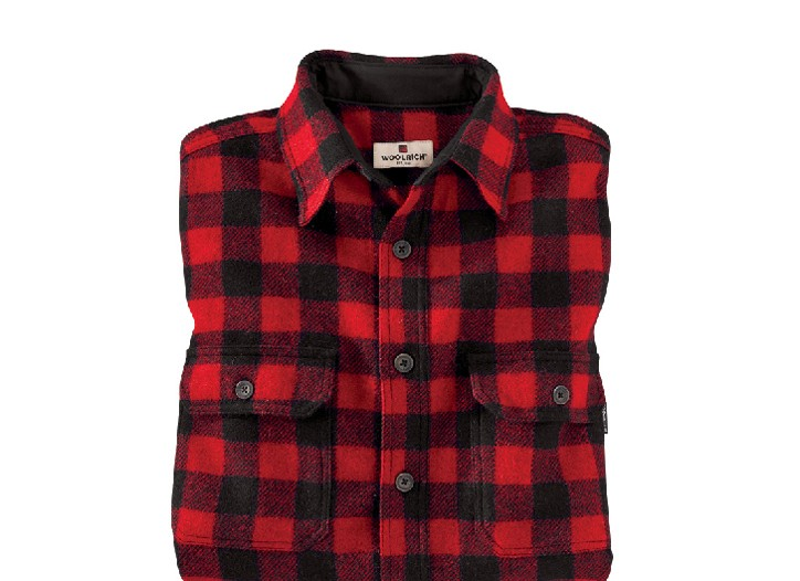 Men's plaid shirts, like this one from Woolrich.com, are expected to be a hot seller this year.