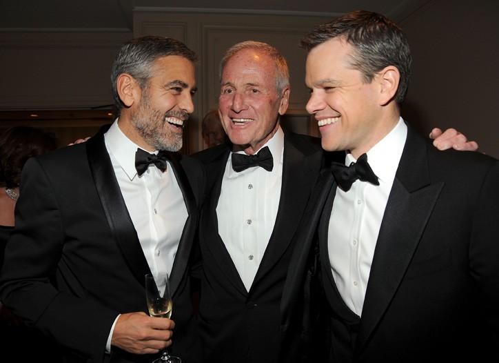 George Clooney, Jerry Weintraub and Matt Damon