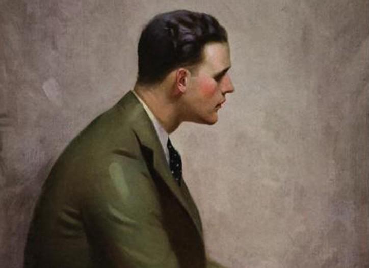Original art from a Gatsby-era ad for Hickey Freeman.