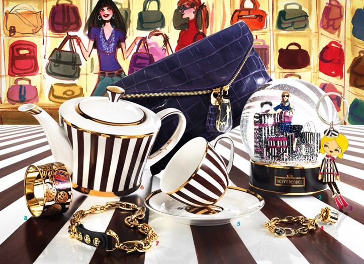 Items from Bendel's cobranded collection with Crystalized Swarovski Elements.