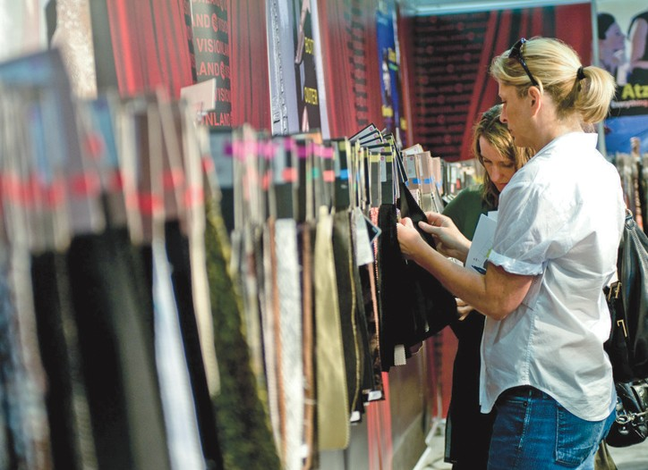 Shopping at Texworld USA.