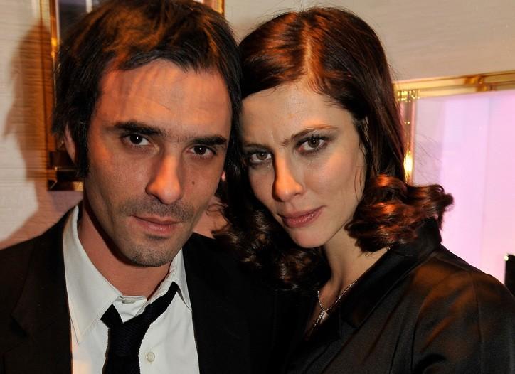 Samuel Benchetrit with Anna Mouglalis in Chanel.
