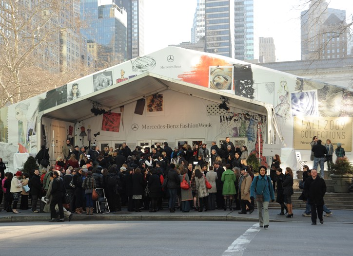 The Tents at Bryant Park are a big attraction.