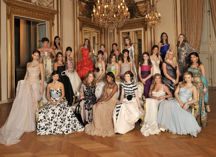The 24 girls honored this year at the Bal Crillon des Debutantes.