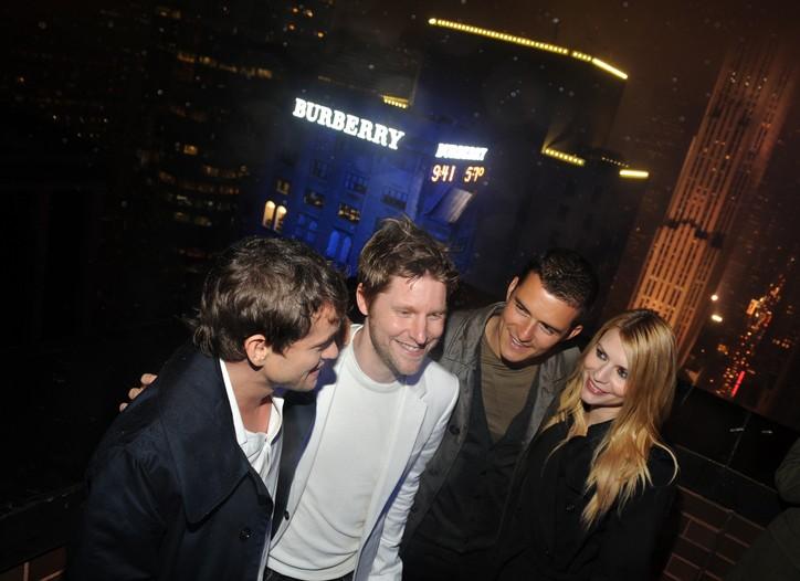 Hugh Dancy, Christopher Bailey, Orlando Bloom and Claire Danes.