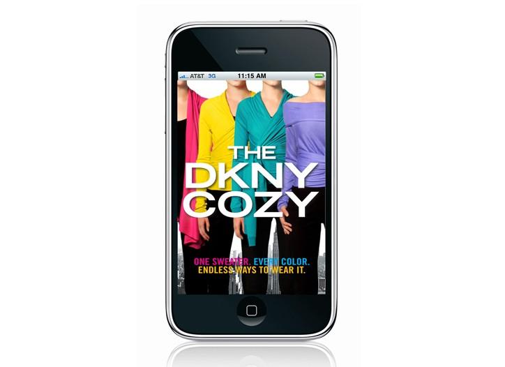 The DKNY Cozy iPhone app.