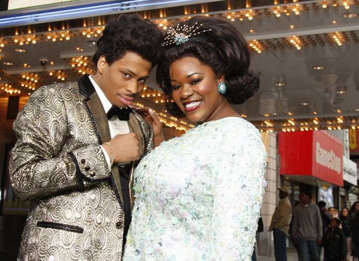 """""""Dreamgirls"""" stars Chester Gregory and Moya Angela in William Ivey Long's costumes."""