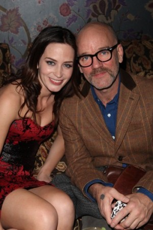 Emily Blunt and Michael Stipe