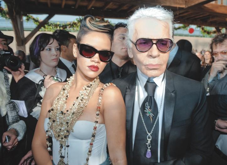 Rihanna and Karl Lagerfeld