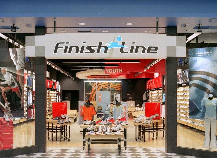 A Finish Line store location.