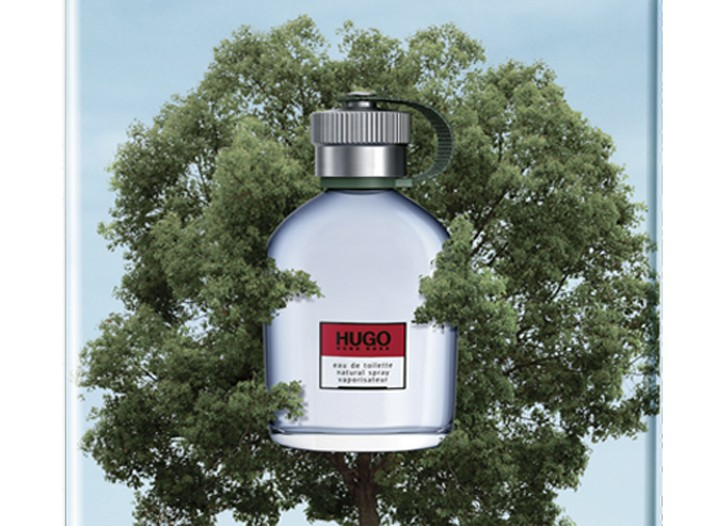 """The Hugo Boss special """"One Fragrance, One Tree"""" edition of Hugo Man."""
