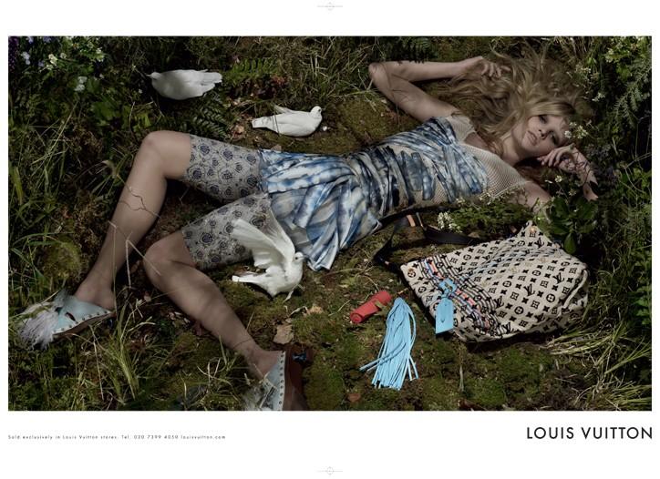 Lara Stone for Louis Vuitton.