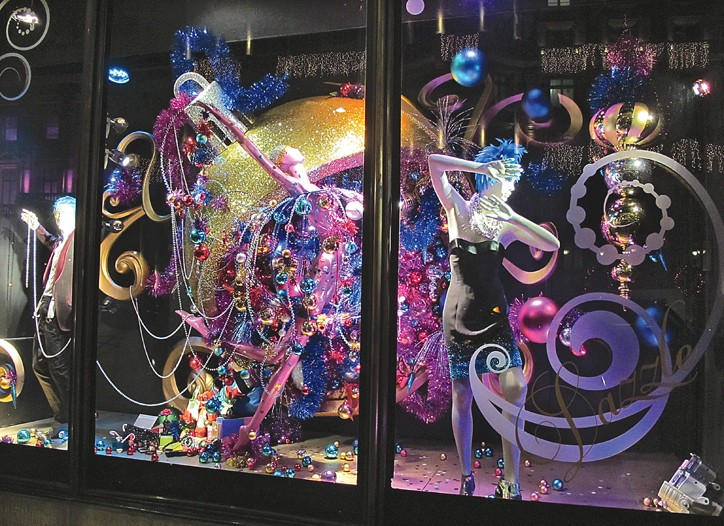 The storefront of Harvey Nichols in London.