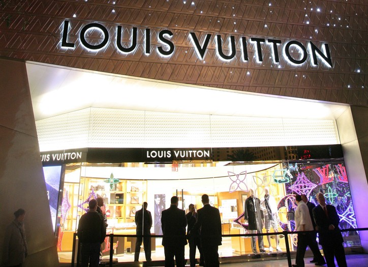Louis Vuitton's store at the Crystals.