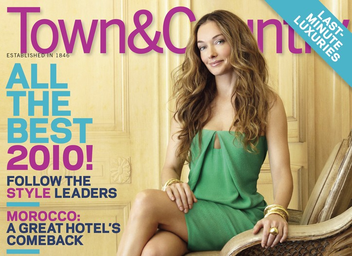 January issue of Town & Country.