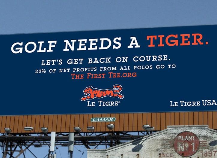Le Tigre's new billboard.