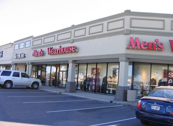 Men's Wearhouse is running buy-one-get-one-free promotions.