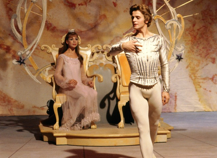Mikhail Baryshnikov and Gelsey Kirkland performing in ABT's The Nutcracker in December 1976.