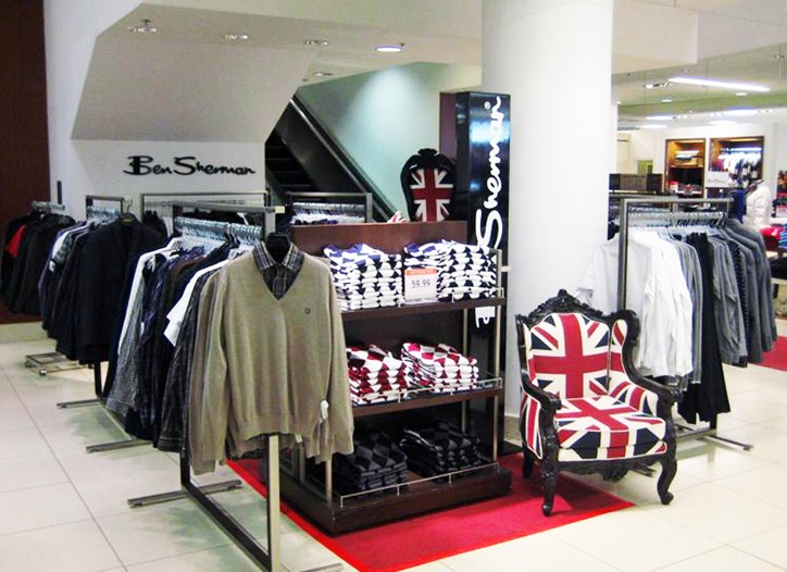 Ben Sherman has turned to a third party merchandiser to handle most of its in-store support.