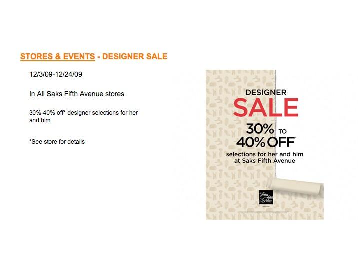 Luxury stores break price on designer collections this week.
