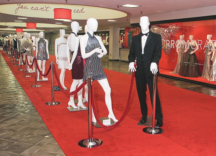 The red carpet at FashionCenterDallas.
