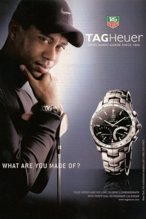 A Tag Heuer ad with Tiger Woods.