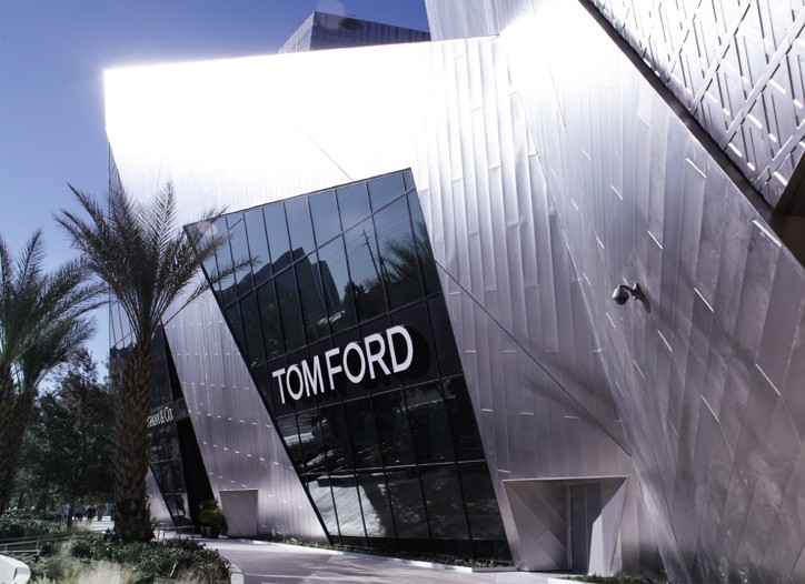 The exterior of Tom Ford at The Crystals.
