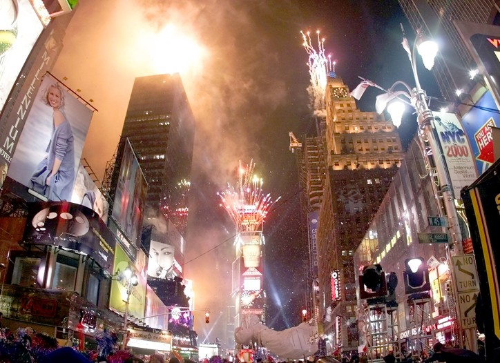 Times Square New Years celebration, January, 1, 2000.