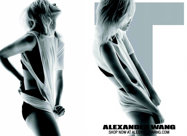An image from Alexander Wang's first ad campaign.