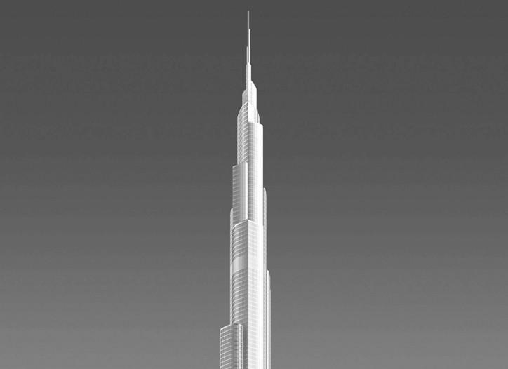 The Burj Dubai tower.