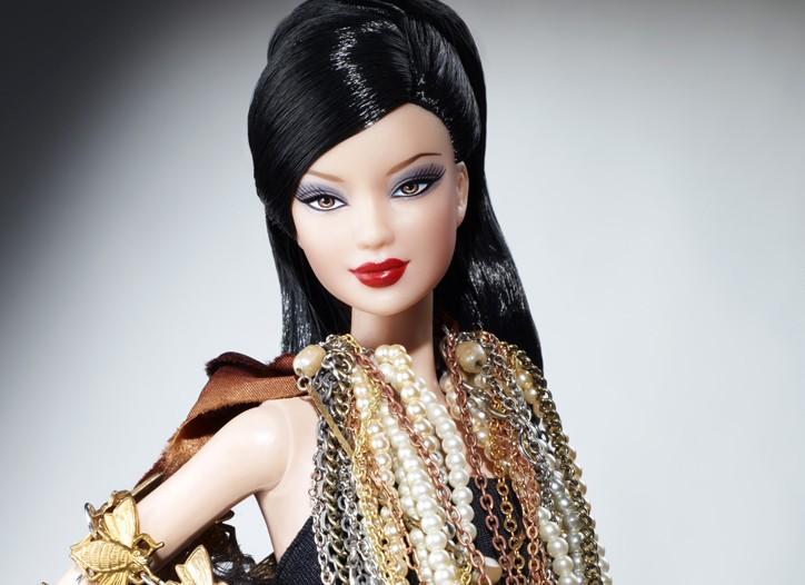Justin Giunta's bejewelled Barbie.