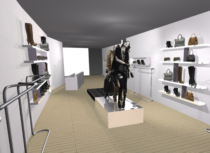 A rendering of the new store design, which allows for merchandise to stand out.