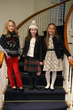 Looks from the new Brooks Brothers girls' collection.