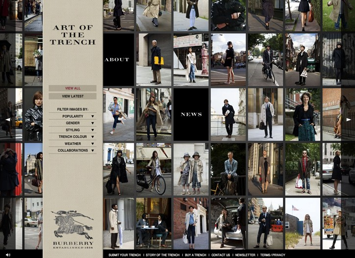 Burberry's artofthetrench.com has hooked thousands of trenchcoat devotees in its first two months online.