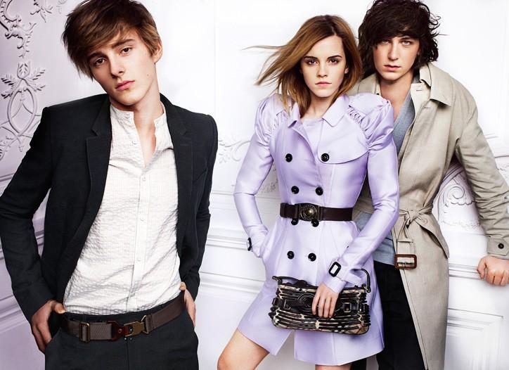 Emma Watson in Burberry Prorsum's spring 2010 ad campaign.