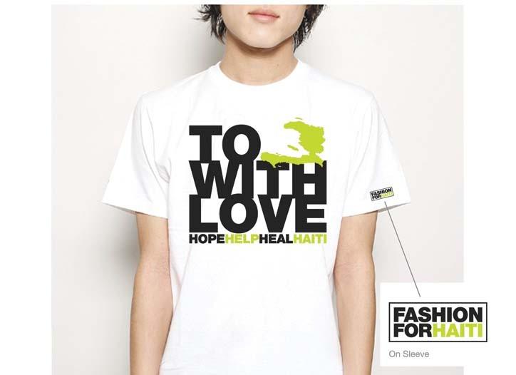 The $25 T-shirt will benefit the Clinton Bush Haiti Fund.