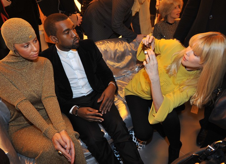 Claudia Schiffer photographs Kanye West and Amber Rose