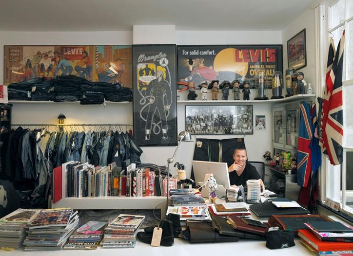 Jason Denham in his studio.