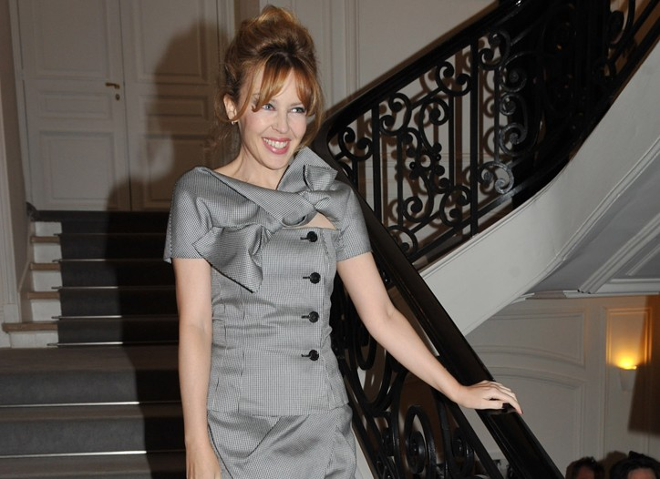 Kylie Minogue at Christian Dior Spring Couture 2010 show.