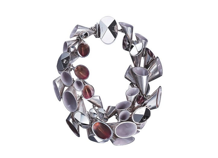 A cone necklace from Dior's pre-fall costume jewelry Diorchester line.