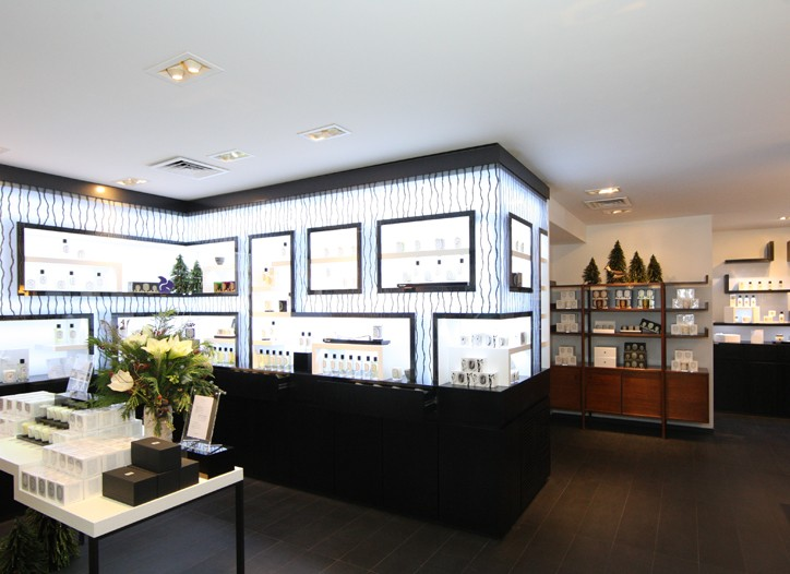 Inside the Diptyque store.