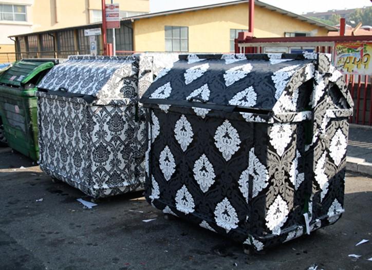 Finley's take on dumpster design.