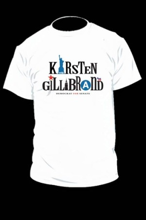 The Kirsten Gillibrand campaign T-shirt designed by Nanette Lepore.