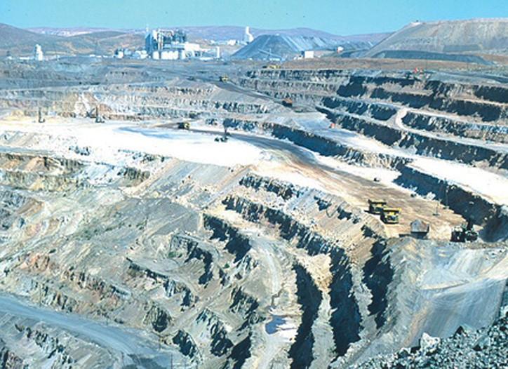 The Barrick Goldstrike open pit mine in Nevada.