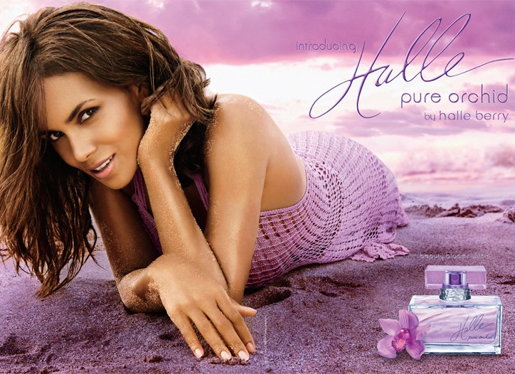 Halle Berry's Pure Orchid ad.
