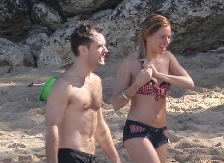 Jude Law and Sienna Miller in the Caribbean.