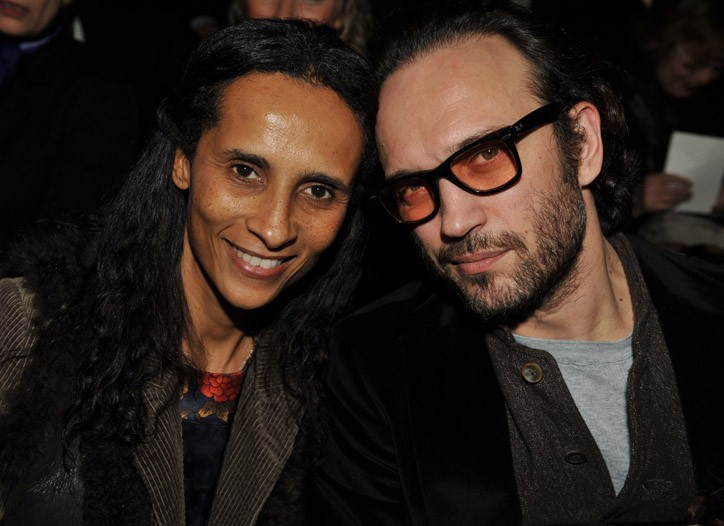 Karine Silla and Vincent Perez